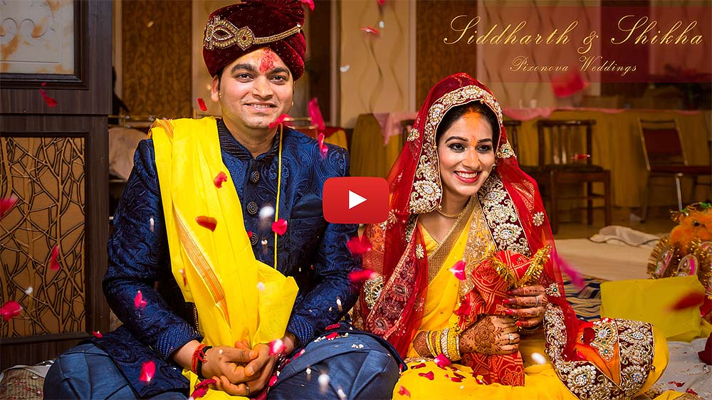 Cinematic wedding video of Siddharth and Shikha