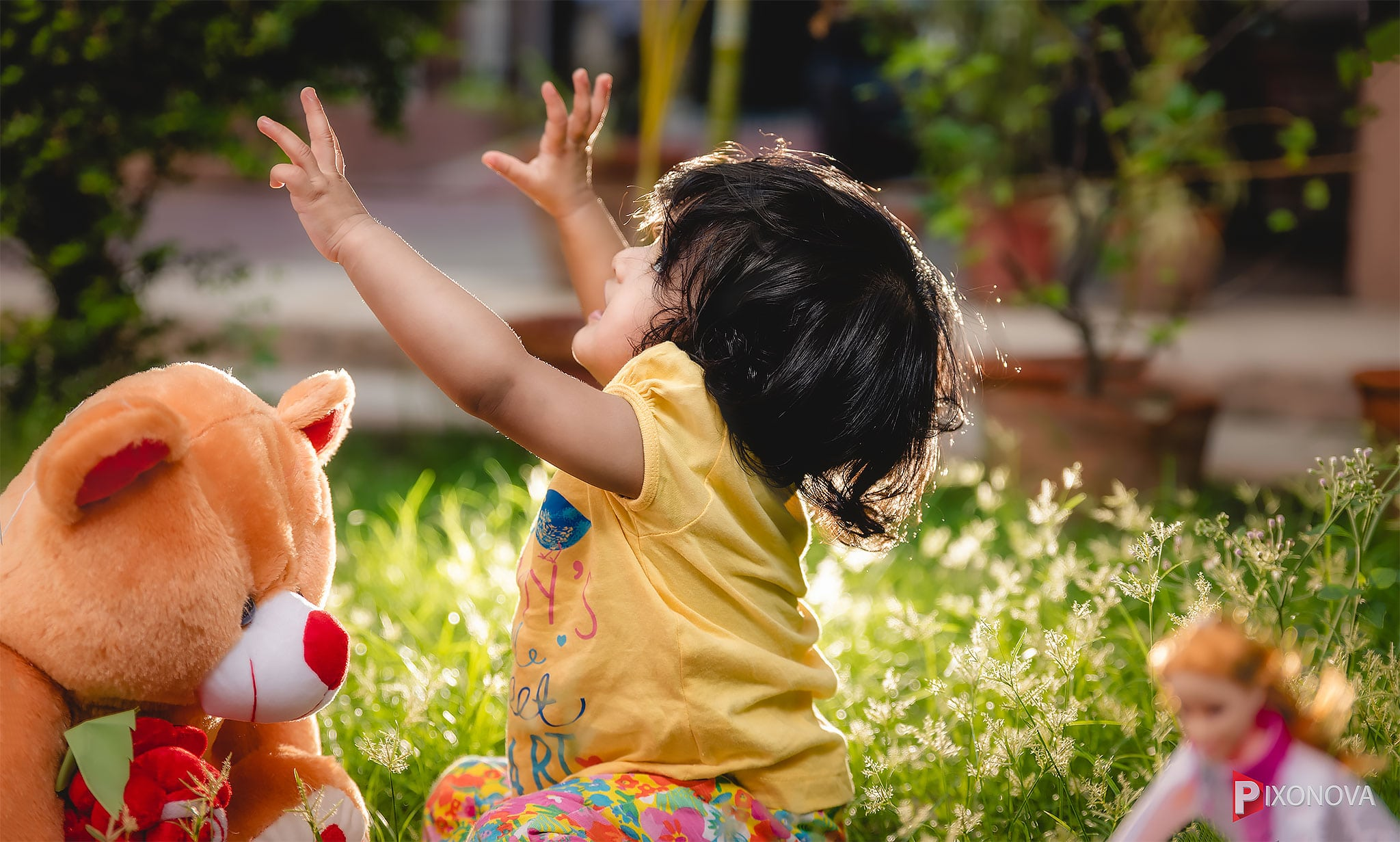 Playing child during kids photography session