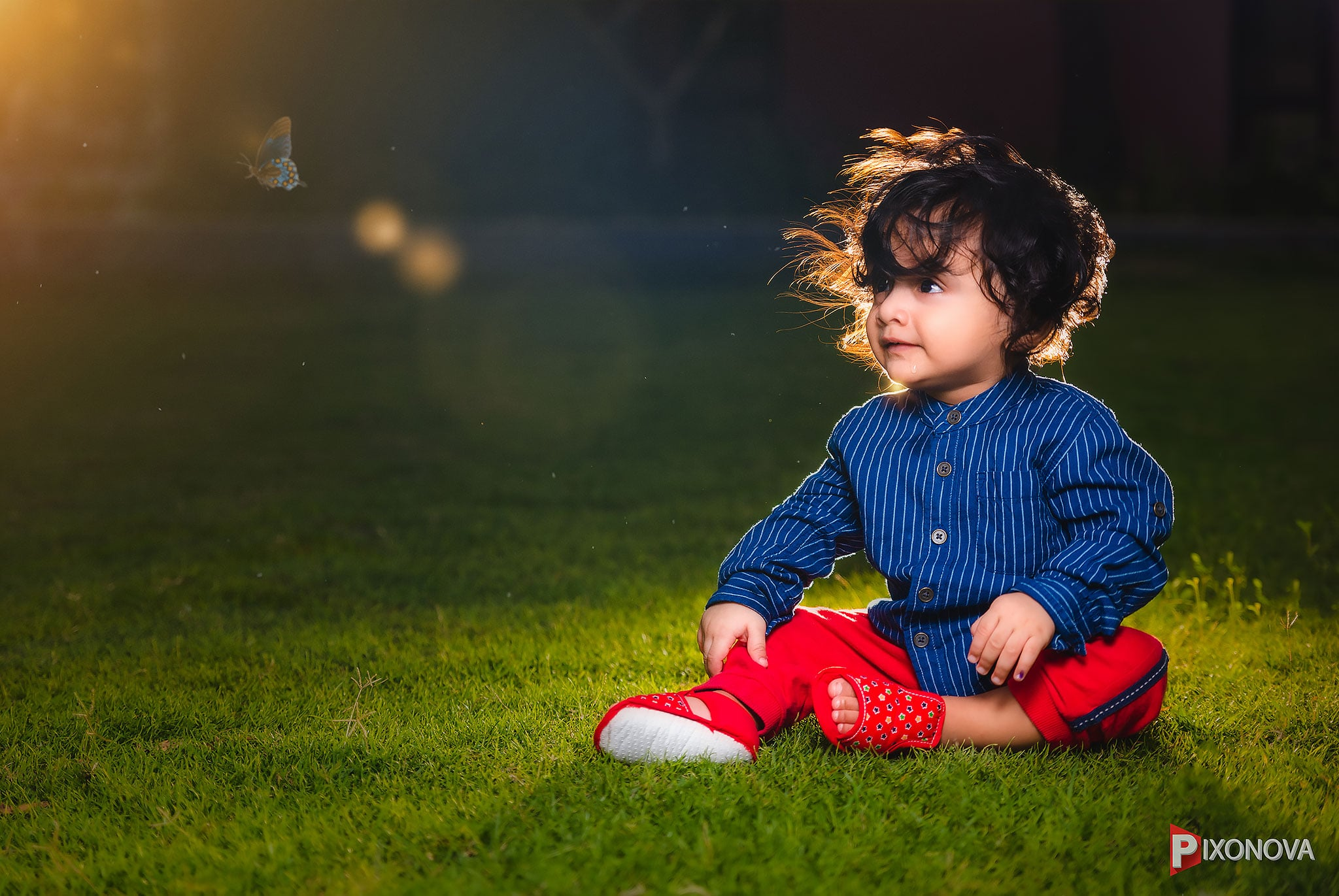 Buttrefly heart baby shot by Rishav chakraborty during a baby photoshoot