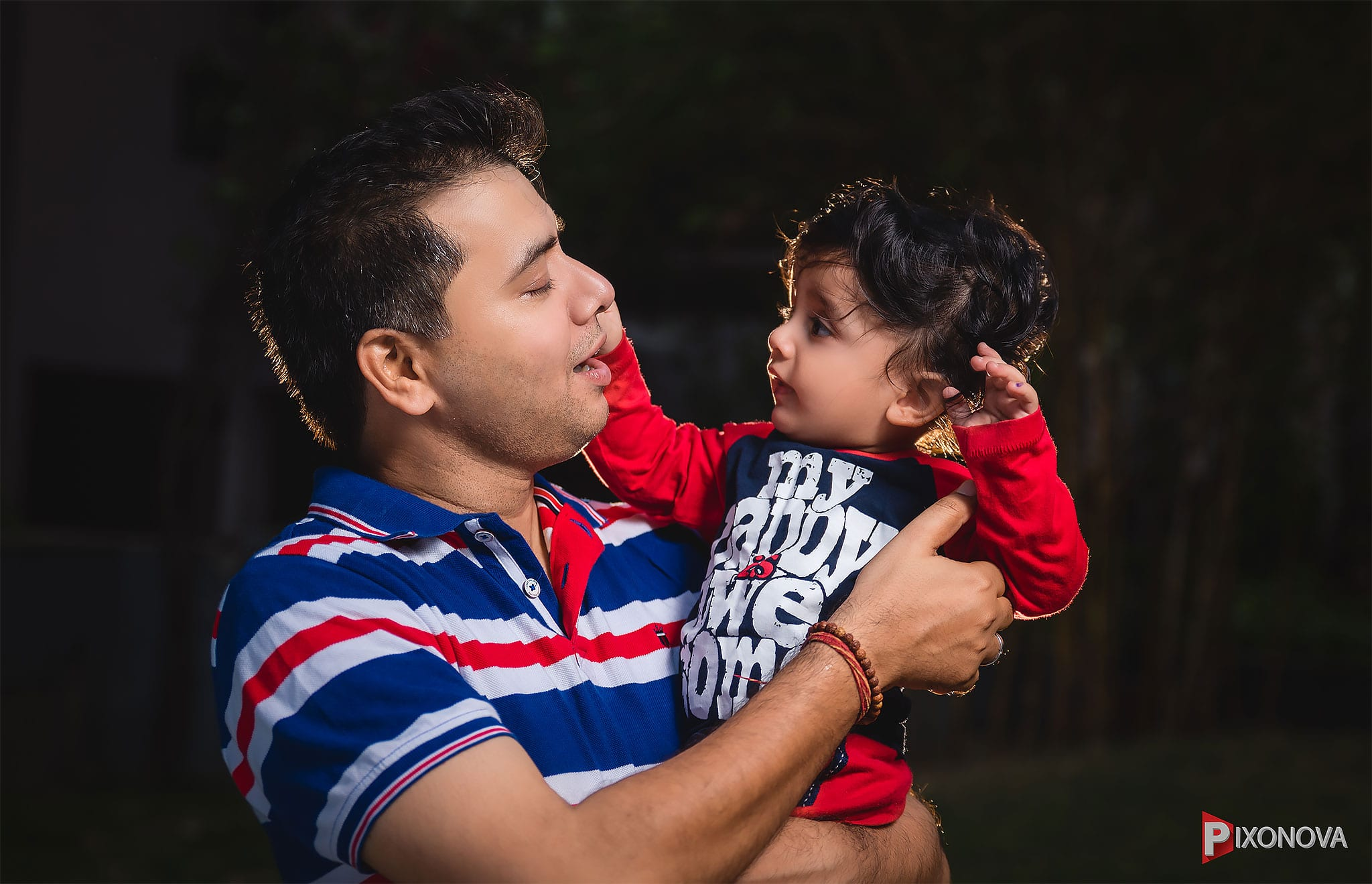Rintin with his Dad , enjoying the moment