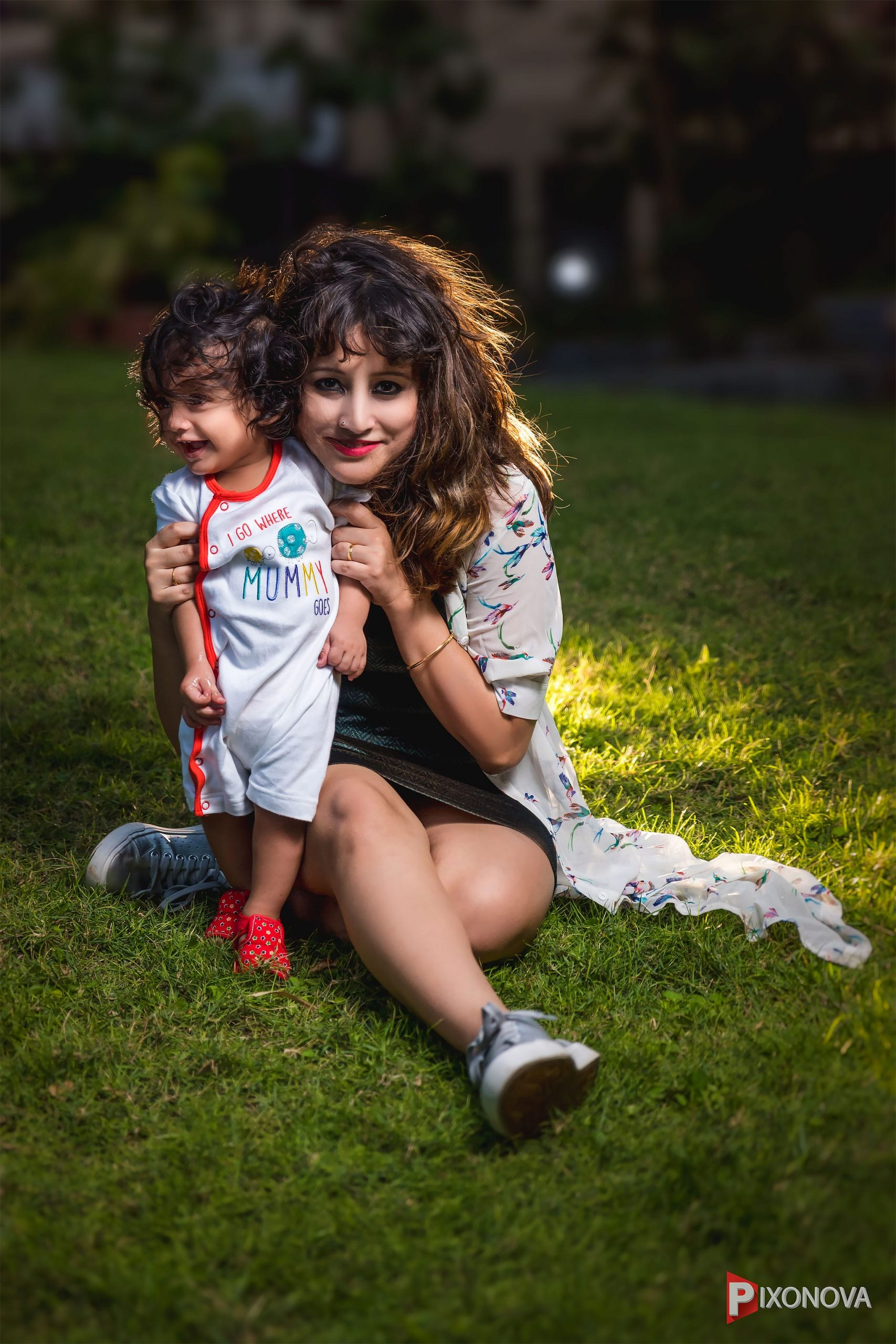 Rusa Bannerjee with her baby Rintin during the shoot with Pixonova