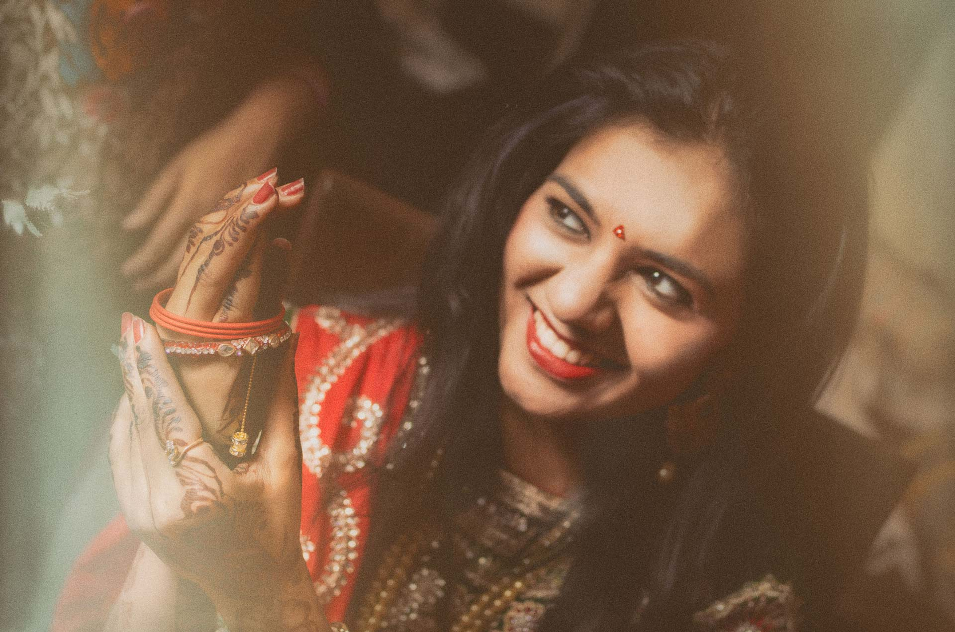 Engament makeup photograph of Sugandha by our wedding photographers