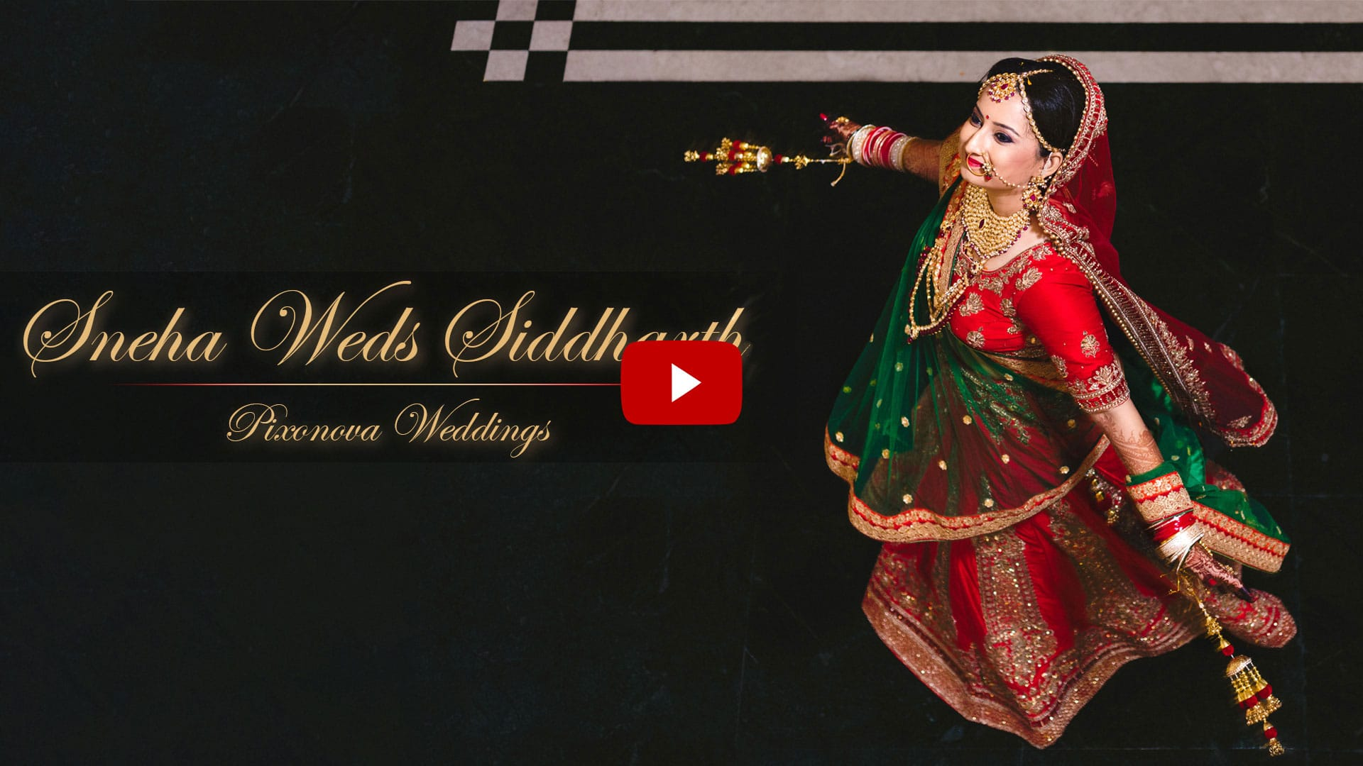 Cinematic wedding video of Sneha and Siddharth