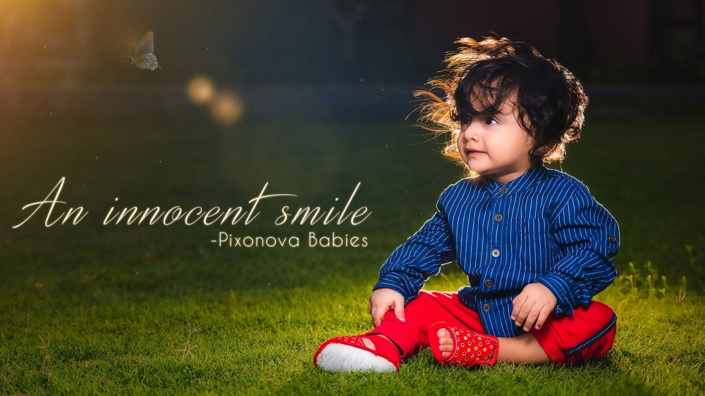 An Innocent Smile - Baby photography sponsored by Viacom 18 and shot by Pixonova baby photographers